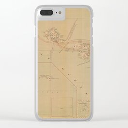 Hawaii Postal Route Map 1908 Clear iPhone Case