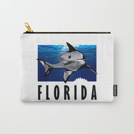 Florida Shark in Deep Blue Carry-All Pouch