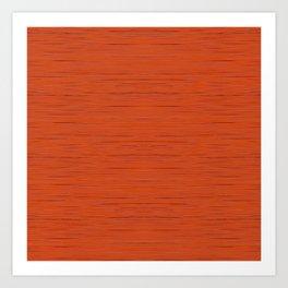 Meteor Stripes - Rust Orange Art Print