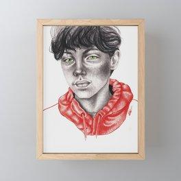 Green & Red Framed Mini Art Print