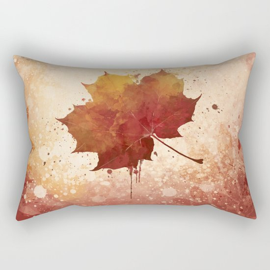 Autumn leaf watercolor painting Rectangular Pillow