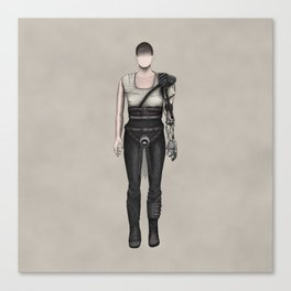 Furiosa without a face (MadMax) Canvas Print