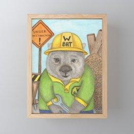Frank the Wombat Framed Mini Art Print