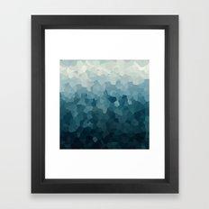 Ice Blue Mountains Moon Love Framed Art Print
