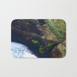 Coastal Cliffs Hawaiian Tropical Beach Bath Mat