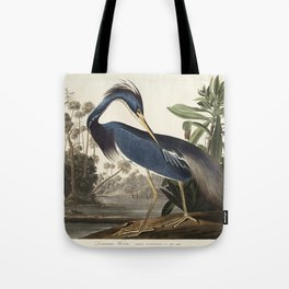 Louisiana Heron from Birds of America (1827) by John James Audubon, etched by William Home Lizars Tote Bag