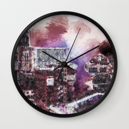 Detroit Moderne Wall Clock