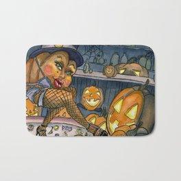 Pumpkin Stripper Bath Mat