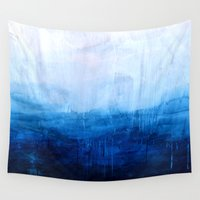 posters Wall Tapestries featuring All good things are wild and free - Ocean Ombre Painting by Prelude Posters