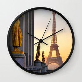 Sunrise in Paris France Wall Clock