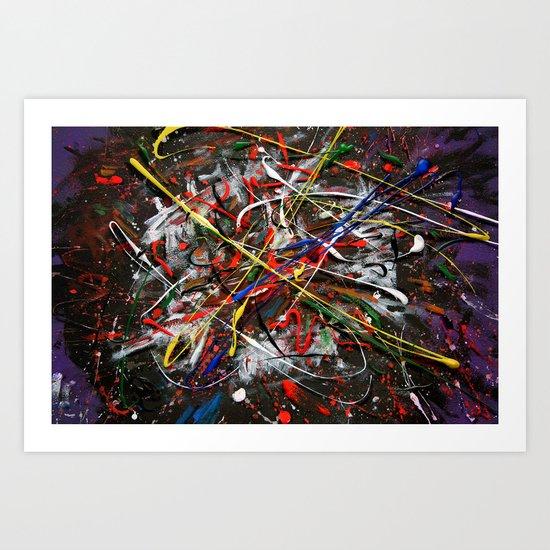 Acryl-Abstrakt 26 Art Print
