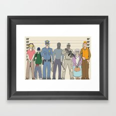 Innocent Until Proven Guilty Framed Art Print