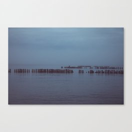 Where the Water Ends-4 Canvas Print