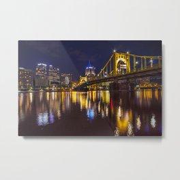 Pittsburgh After Dark Metal Print