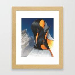 Loving penguins Framed Art Print