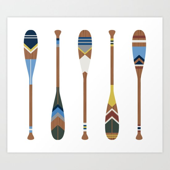 Painted Oars by greatlakeslocals
