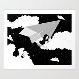 The Paper Plane Journey Art Print