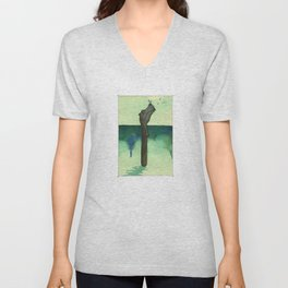 Animal's Alphabet - I for 'Ippopotamo' Unisex V-Neck