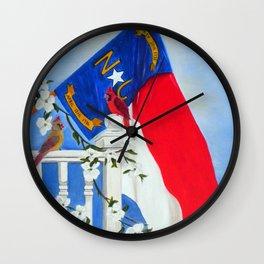 North Carolina - A State of Art Wall Clock