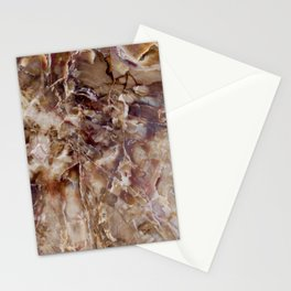 Marbled Petrified Wood Stationery Cards
