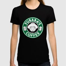 Yubaba's Coffee Womens Fitted Tee SMALL Black
