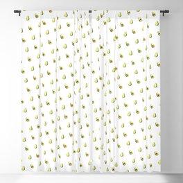 Avocado Print | White Blackout Curtain