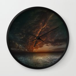 The Mediterranean Sunset Wall Clock