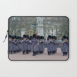 Band Plays During Changing of the Guard at Buckingham Palace London England Laptop Sleeve