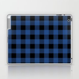 Buffalo Plaid Blue Black Lumberjack Pattern Laptop & iPad Skin