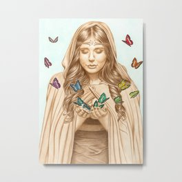 The Butterfly Girl Metal Print