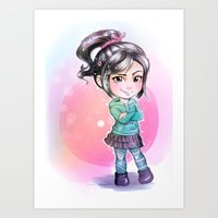 wreck it ralph Art Prints featuring Vanellope - Wreck-it Ralph by Claire