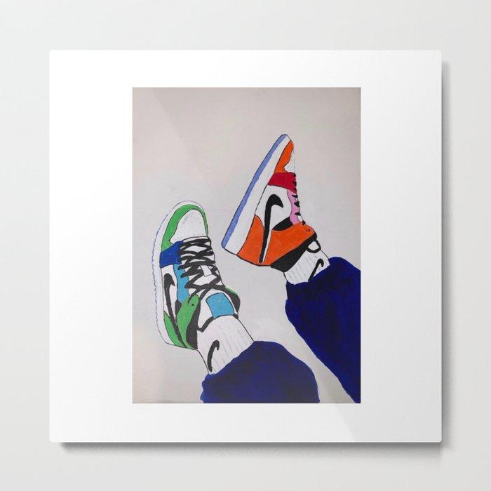 Sneaker Colorful Air Jordan 1's Metal Print