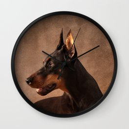 Dobermann - Doberman Pinscher Wall Clock