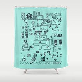 Retro Arcade Mash Up Shower Curtain