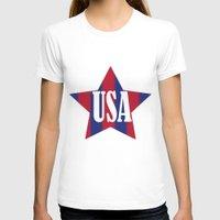 usa T-shirts featuring USA by Caio Trindade