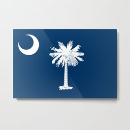 State flag of South Carolina - Authentic version Metal Print