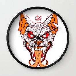 Demon Sphynx Cat2 Wall Clock