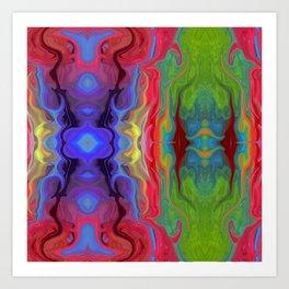 Color Melt Art Print