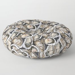 Oyster Seafood Fiesta in Charcoal Floor Pillow