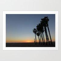 Palm sunset - Venice Art Print