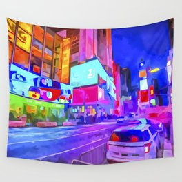 Pop Art Times Square Wall Tapestry