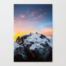 Monte Rosa at sunrise Canvas Print
