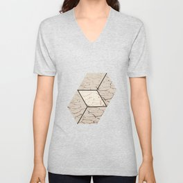Earth hexagon abstract - Earth sign - The Five Elements Unisex V-Neck