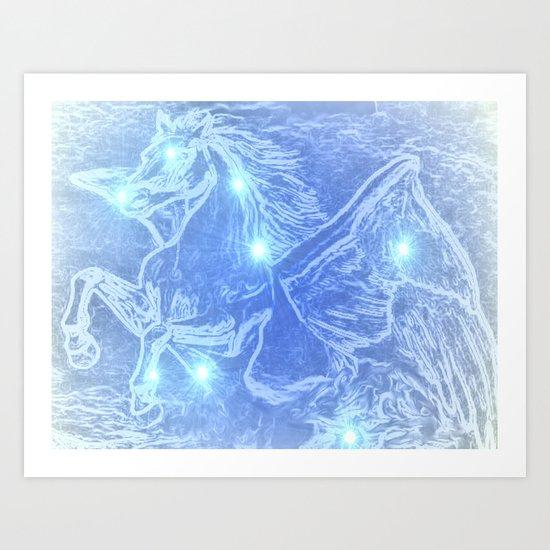Pegasus-Constellation series Art Print