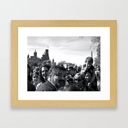 Sanity Crowd Framed Art Print