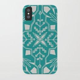 Turquoise Batik iPhone Case