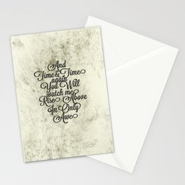 Rise Above (Black) Stationery Cards