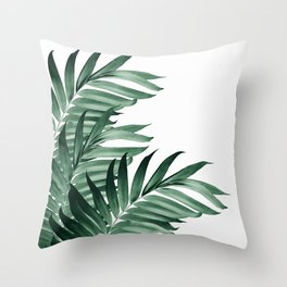 Palm Leaves Tropical Green Vibes #3 #tropical #decor #art #society6 Throw Pillow