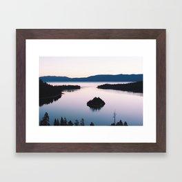 Purple Emerald Bay Framed Art Print