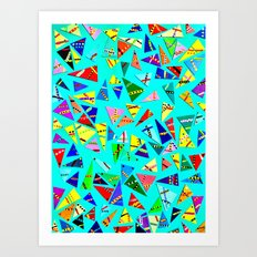 Triangle Mania Art Print